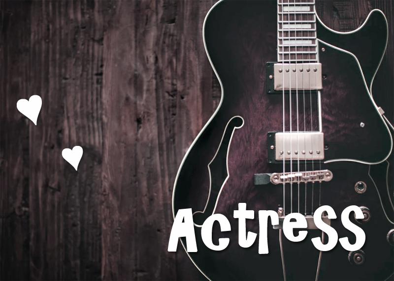 女優,テキサス,ギター
