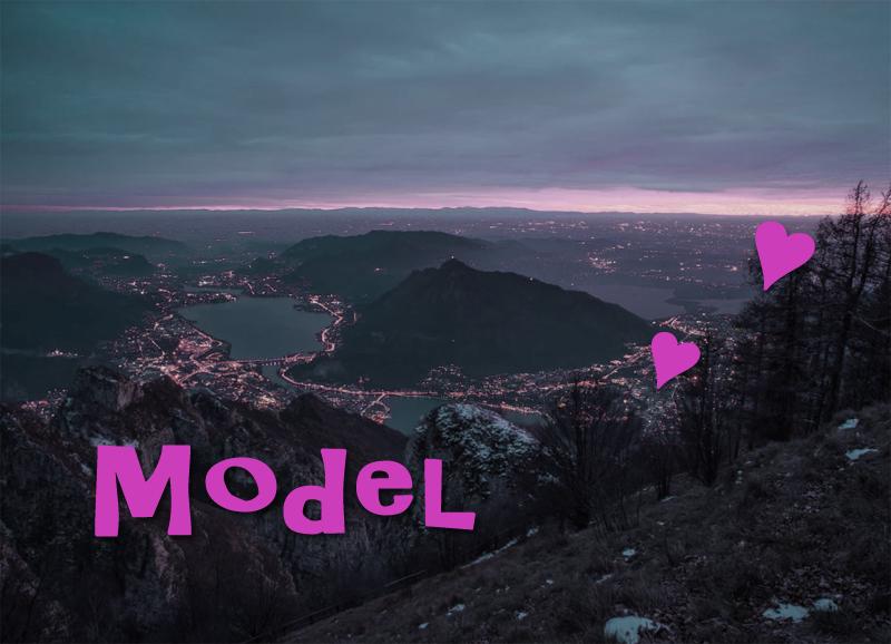 モデル,風景